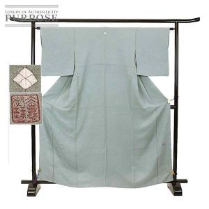 色無地 正絹 着物 きもの 大喜祭 落款 一つ紋 金銀糸織 紋意匠 和装 リサイクル|purpose-inc