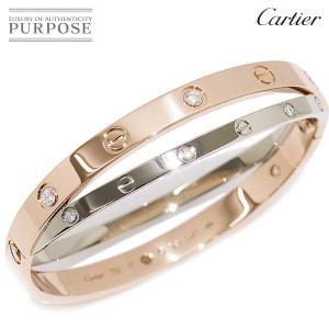 カルティエ Cartier ラブ ブレス 12P ダイヤ #...