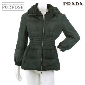 プラダ PRADA ジャケット コート アウター 中綿 ダウン ブラック サイズ38 レディース|purpose-inc