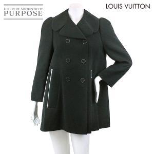 ルイヴィトン LOUIS VUITTON ウール コート アウター ブラック サイズ 40 レディース LV|purpose-inc