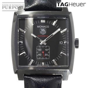 タグホイヤー TAG HEUER モナコ WW2119 メンズ 腕時計 スモールセコンド デイト ブラック 黒 文字盤 自動巻き オートマ ウォッチ...