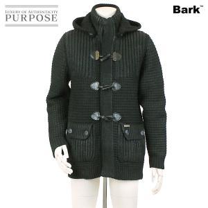 バーク Bark ニット ダッフルコート フード付き サイズ S ブラック メンズ|purpose-inc