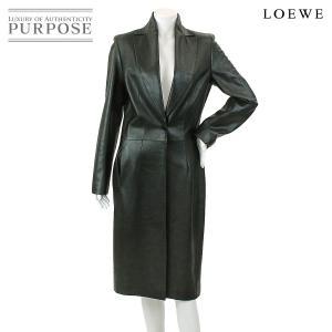ロエべ LOEWE レザーコート ラム 革 ブラック 黒 サイズ38 レディース|purpose-inc