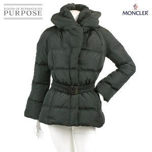 モンクレール MONCLER ダウンジャケット 中綿 ベルト 付き ブラック サイズ 00 レディース|purpose-inc