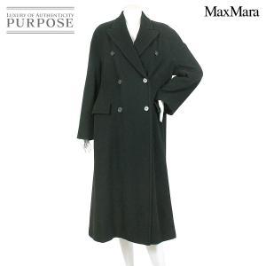 マックスマーラ MaxMara ウール ロング コート ブラック 40 サイズ レディース|purpose-inc