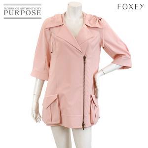 フォクシー ニューヨーク FOXEY NEW YORK コート ジャケット レイン 撥水 ピンク サイズ 40 レディース|purpose-inc