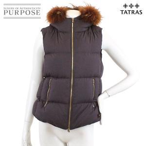 タトラス TATRAS ダウン ベスト ファー フード付き 中綿 パープル 03サイズ レディース|purpose-inc