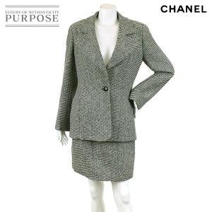 シャネル CHANEL セットアップ スーツ 長袖 ブラック サイズ 40 94A ヴィンテージ レディース|purpose-inc