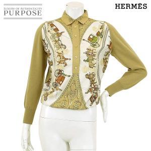 エルメス HERMES ブラウス カットソー スカーフ柄 か...