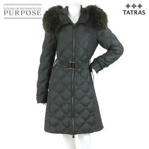 タトラス TATRAS ダウン ロング コート 中綿 ラクーン ファー グレー サイズ 03 レディース|purpose-inc