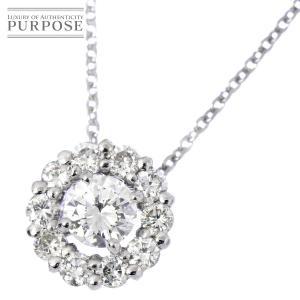 ダイヤ 0.20ct/0.22ct K18WG ネックレス 45cm 18金ホワイトゴールド ダイア|purpose-inc