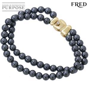 マンフレディ MANFRED ヘマタイト ダイヤ ブレスレット 19cm K18YG 18金イエローゴールド 作家物|purpose-inc