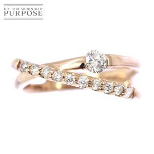 ダイヤ 0.20ct K18PG ピンキー リング 2号 18金ピンクゴールド ダイア 指輪|purpose-inc