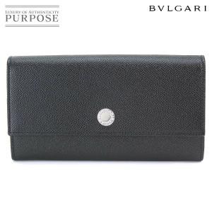 未使用 展示品 ブルガリ BVLGARI Classico 二つ折り 長財布 レザー ブラック 27749|purpose-inc