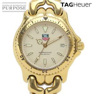 タグホイヤー TAG HEUER セルシリーズ プロフェッショナル S94 013 ボーイズ 腕時計 デイト アイボリー 文字盤 クォーツ ウォッチ|purpose-inc