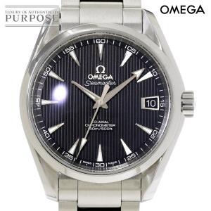 オメガ OMEGA シーマスター アクアテラ コーアクシャル 231 10 39 21 01 001 メンズ 腕時計 デイト ブラック 文字盤 裏スケルトン オートマ 自動巻き ウォッチ|purpose-inc