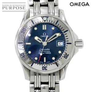 オメガ OMEGA シーマスター プロフェッショナル 2582 80 レディース 腕時計 デイト ブルー 文字盤 クォーツ ウォッチ purpose-inc