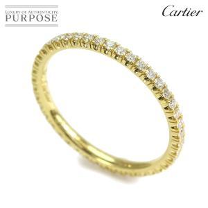 カルティエ Cartier エタンセル フルダイヤ #45 リング K18YG 18金 フルエタニティ 指輪 purpose-inc