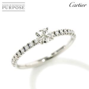 カルティエ Cartier エタンセル ダイヤ 0.20ct E/VVS1/VG #45 リング P...
