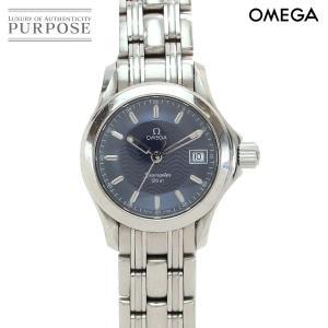 オメガ OMEGA シーマスター 120 レディース 腕時計 2571 81 デイト ネイビー 文字盤 クォーツ ウォッチ purpose-inc