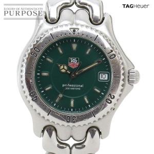 タグホイヤー TAG Heuer セルシリーズ プロフェッショナル WG1116 0 メンズ 腕時計 デイト グリーン 文字盤 クォーツ ウォッチ|purpose-inc