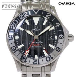 オメガ OMEGA シーマスター GMT 2234 50 50周年記念 メンズ 腕時計 デイト ブラック 文字盤 オートマ 自動巻き ウォッチ purpose-inc