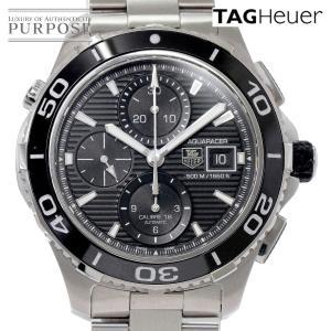 タグホイヤー TAG HEUER アクアレーサー CAK2110 クロノグラフ メンズ 腕時計 デイト ブラック 文字盤 オートマ 自動巻き ウォッチ|purpose-inc