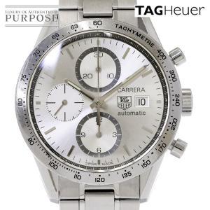 タグホイヤー TAG HEUER カレラ クロノグラフ CV2017 メンズ 腕時計 デイト シルバー 文字盤 オートマ 自動巻き ウォッチ|purpose-inc