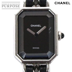 def344d18b シャネル CHANEL プルミエール Mサイズ H0451 レディース 腕時計 ブラック 文字盤 シ.