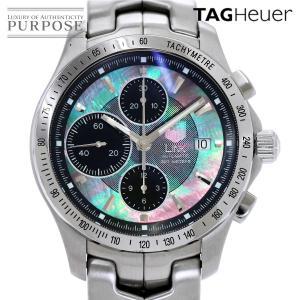 タグホイヤー TAG Heuer CJF211K BA0594 リンク キャリバー16 メンズ 腕時計 クロノグラフ 日本限定モデル ブラックパール オートマ 自動巻き ウォッチ|purpose-inc