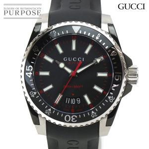56ff6aa7f0bc グッチ GUCCI ダイブ YA136303 メンズ 腕時計 ブラック 文字盤 デイト クォーツ ウ.