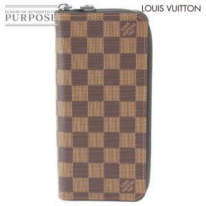 未使用 展示品 ルイ ヴィトン LOUIS VUITTON ダミエ ジッピーウォレット ヴェルティカル ラウンドファスナー 長財布 エベヌ N61207 purpose-inc
