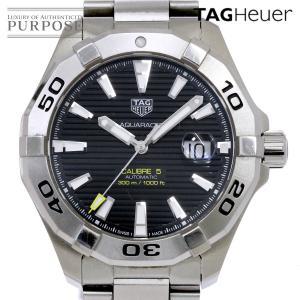 タグホイヤー TAG Heuer アクアレーサー キャリバー5 WAY2010 メンズ 腕時計 ブラック 文字盤 デイト オートマ 自動巻き ウォッチ|purpose-inc