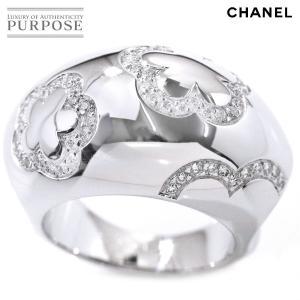 cd6ed052115e シャネル CHANEL カメリア ダイヤ #50 リング K18WG 18金ホワイトゴールド 750 指輪