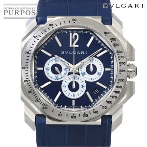 c83dc5e0143e ブルガリ BVLGARI オクト マセラティ BGO41SCH クロノグラフ メンズ 腕時計 1914本限定 デイト ブルー オートマ 自動巻き  ウォッチ