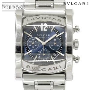 2d6327f73204 ブルガリ BVLGARI アショーマ クロノグラフ AA44SCH メンズ 腕時計 デイト ネイビー 文字盤 オートマ 自動巻き ウォッチ.  218,000円. 中古
