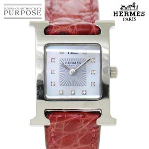 エルメス HERMES Hウォッチ HH1 210 レディース 腕時計 11P ダイヤ ホワイトシェ...