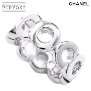 201f8702c028 シャネル CHANEL ココ リング 13号 K18WG 18金ホワイトゴールド 750 指輪 CO.