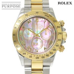 ロレックス ROLEX デイトナ 116523NR K番 コンビ K18YG クロノグラフ メンズ ...