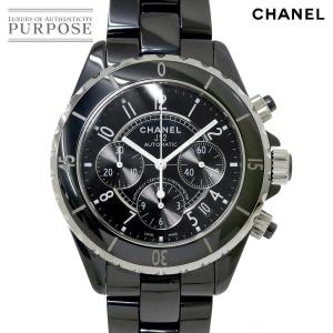 bf9304ad4451 シャネル CHANEL J12 41mm クロノグラフ H0940 メンズ 腕時計 デイト ブラック セラミック オートマ 自動巻き ウォッチ