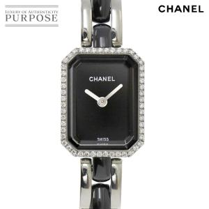 072e0531d6 シャネル CHANEL プルミエール H2163 ダイヤベゼル レディース 腕時計 ブラック セラミ.