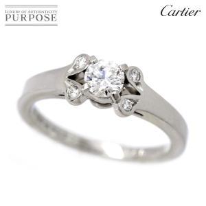 カルティエ Cartier バレリーナ ダイヤ 0.23ct リング #46 PT950 プラチナ ...