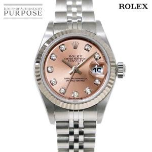 ロレックス ROLEX デイトジャスト 79174G Y番 レディース 腕時計 10P ダイヤ ピン...