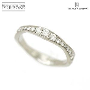 ハリー ウィンストン パヴェウェーブ ダイヤ リング 6.5号 PT950 プラチナ HW 指輪 H...