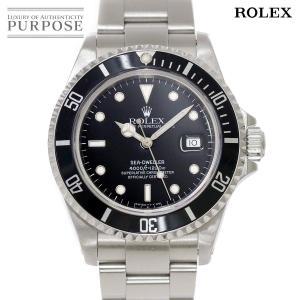 ロレックス ROLEX シードゥエラー 16600 S番 メンズ 腕時計 デイト ブラック 文字盤 ...