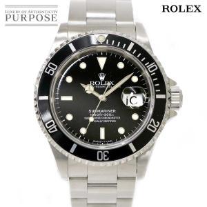ロレックス ROLEX サブマリーナ デイト 16610 W番 メンズ 腕時計 ブラック 文字盤 オ...