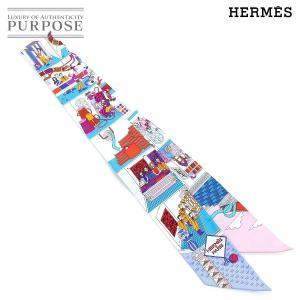 未使用 エルメス HERMES ツイリー スカーフ La Maison de Carres メゾン ...