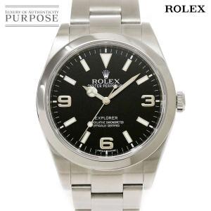ロレックス ROLEX エクスプローラ1 214270 ランダム ルーレット メンズ 腕時計 ブラッ...