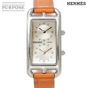 エルメス HERMES ケープコッド ドゥゾーン CC3 210 レディース 腕時計 シルバー 文字...