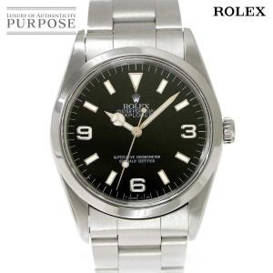 ロレックス ROLEX エクスプローラ1 14270 U番 メンズ 腕時計 トリチウム ブラック 文...